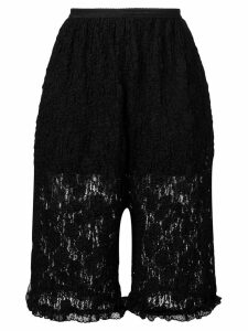 Mm6 Maison Margiela floral lace shorts - Black