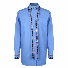 Valentino Embroidered Poplin Shirt