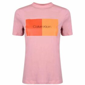 Calvin Klein Cotton Block Logo T Shirt