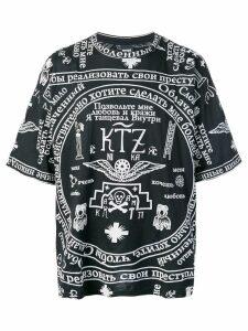 KTZ church printed T-shirt - Black