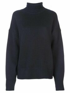 The Row oversized roll neck sweater - Blue