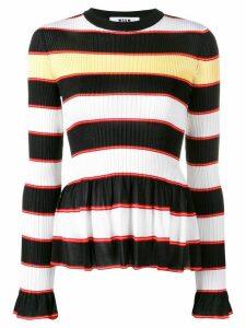 MSGM horizontal stripes jumper - White