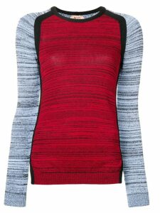 Nº21 contrast sleeve jumper - Red