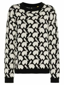 Moncler Rabbit intarsia knit sweater - Black