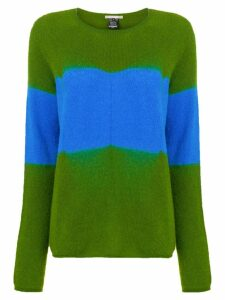 Suzusan cashmere two-tone sweater - Green