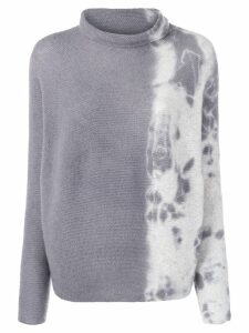 Suzusan cashmere two-tone sweater - Grey