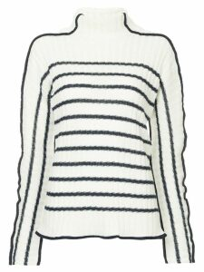 Sies Marjan knit striped turtleneck jumper - White