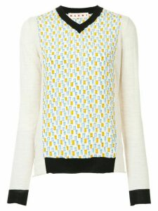 Marni contrast trim sweater - White