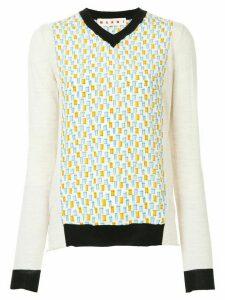 Marni contrast trim sweater - White