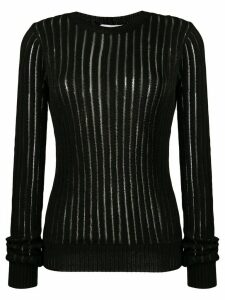 Helmut Lang sheer stripe sweater - Black