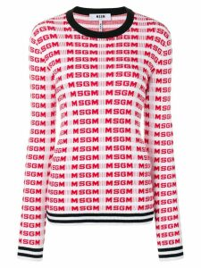 MSGM logo printed sweater - Red