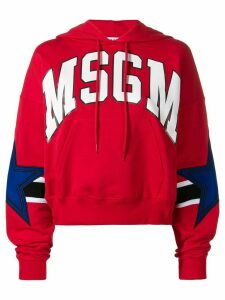 MSGM logo hoodie - Red