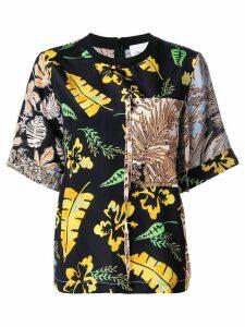3.1 Phillip Lim floral patchwork T-shirt - Black