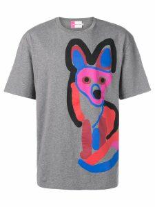 Maison Kitsuné Acide fox print T-shirt - Grey