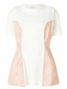 Marni brocade side T-shirt - White