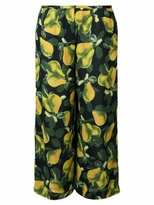 Marc Jacobs printed wide-leg trousers - Black