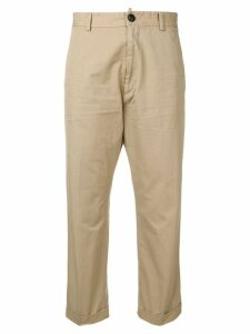 Dsquared2 high-waisted chino trousers - NEUTRALS