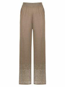 Mara Mac knit palazzo pants - Brown
