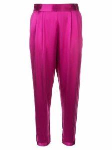 Fleur Du Mal high rise tuxedo pants - Purple