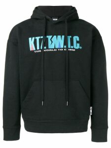 KTZ mountain letter embroidered hoodie - Black