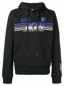 KTZ sport logo printed hoodie - Black