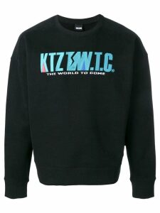 KTZ mountain letter embroidered sweatshirt - Black
