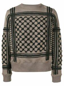 KTZ keffiyeh toweling sweatshirt - Green