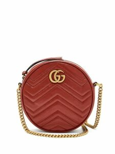 Gucci - GG Marmont Circular Leather Cross-body Bag - Womens - Red