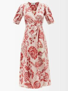 Gucci - Pleated Silk Satin Blouse - Womens - Light Pink
