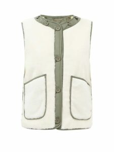 Chloé - Lace-trimmed Silk-georgette Blouse - Womens - Light Grey