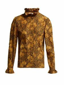 Borgo De Nor - Veronica Leopard-print Blouse - Womens - Leopard