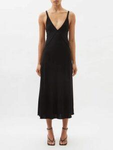 Raf Simons - Single Breasted Checked Wool Coat - Womens - Dark Green