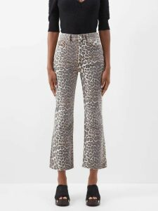 Isabel Marant - Andora Ruffled Silk-blend Crepe Blouse - Womens - Light Pink
