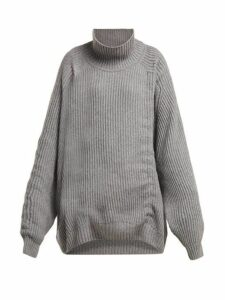 Hillier Bartley - Oversized Gathered Cashmere Sweater - Womens - Grey