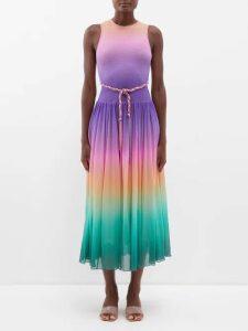 Alexander Mcqueen - Peplum Leather Biker Jacket - Womens - Ivory