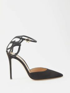Allude - Contrast-stripe Cashmere Sweater - Womens - Red Navy