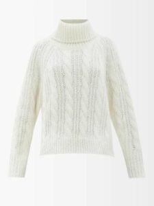 Allude - Contrast Block Cashmere Sweater - Womens - Navy Multi
