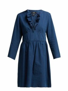 A.p.c. - Poppy Cotton Chambray Dress - Womens - Indigo