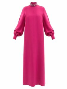 Etro - Slim Leg Cady Trousers - Womens - Red