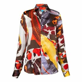 ARLETTE ESS - 'Koi II' Multicolour Unisex Silk Satin Shirt