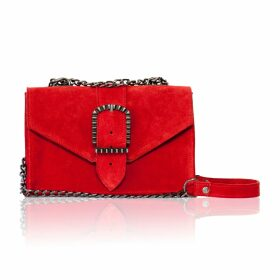 SOMERVILLE. - Eternity Knot Silk Blouse In Brown Pinstripe