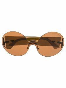 Giorgio Armani Pre-Owned oval shaped sunglasses - Brown