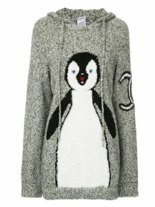 Chanel Pre-Owned knitted penguin hoodie - Grey