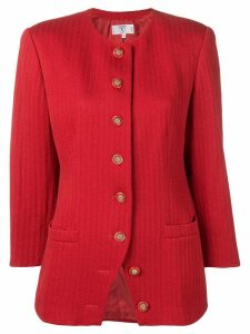 Valentino Pre-Owned 1980's fishtail pattern jacket - Red