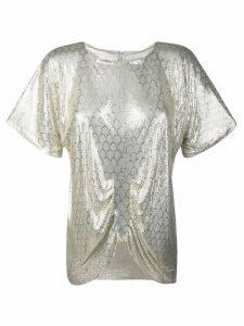 Katheleys Vintage 1970's Whiting & Davis Disco blouse - Silver