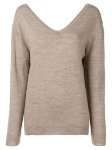 Maison Martin Margiela Pre-Owned 1990's V-neck jumper - NEUTRALS