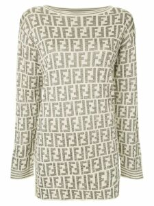 Fendi Pre-Owned monogram intarsia jumper - NEUTRALS