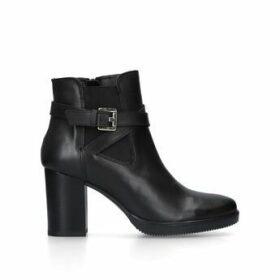 Womens Silver 80 Mm Heel Ankle Boots Carvela Wine, 6.5 UK