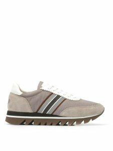 Brunello Cucinelli side stripe sneakers - Grey