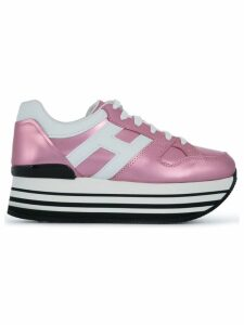 Hogan logo lace-up sneakers - Pink